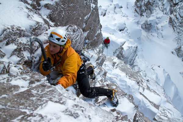 Ian Parnell on 'Blood, Sweat and Frozen Tears' VIII, 8, Beinn Eighe, Scotland, Hans Hornberger