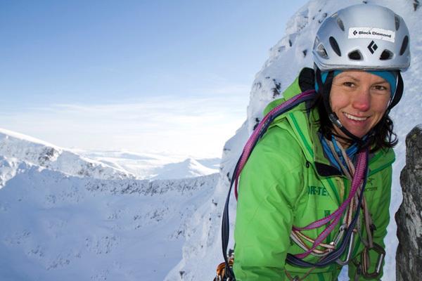 Ines Papert climbing on Ben Nevis., Hans Hornberger