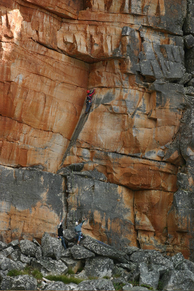 The first pitch of Big Groove (5c) Tafelberg, Tony Lourens Collection