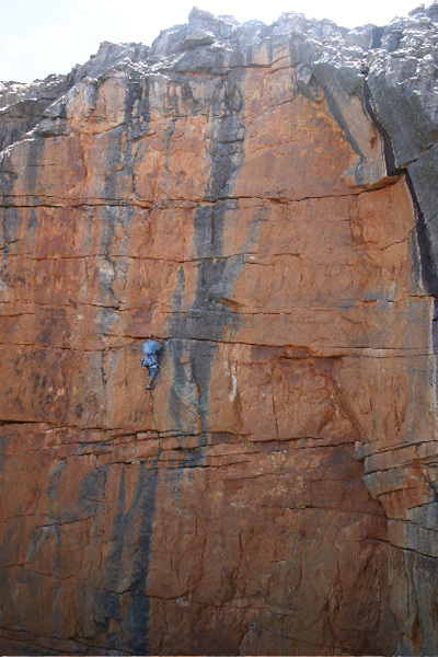 The immaculate monster pitch of Comes a Time (6b) Tafelberg, Tony Lourens Collection