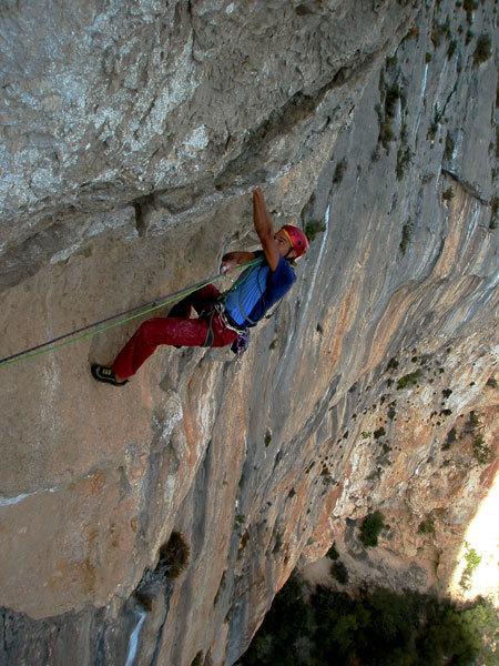 Dodo making the fast clip of pitch 7, 7c, of Genius in Sardinia, arch. Fabio Palma