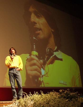 Patrick Berhault nel 2001 al Film Festival di Trento, Planetmountain.com