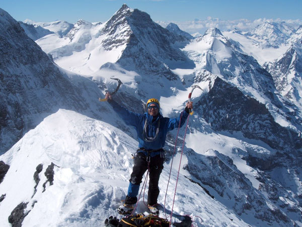 On the summit of the Eiger, arch. C. Profit