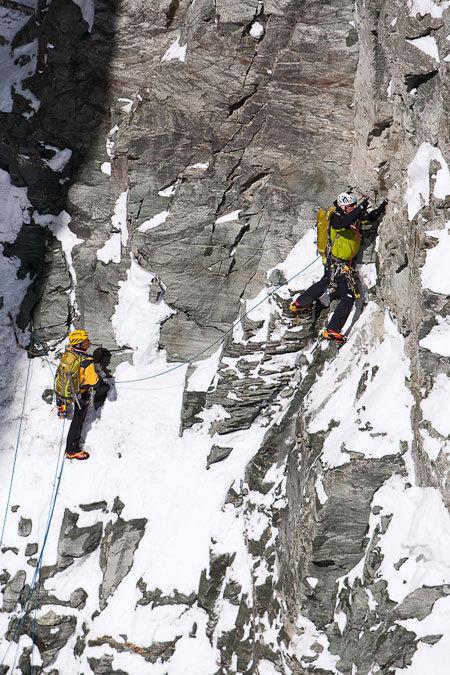 13/03/2010 Marco ed Hervé Barmasse in apertura della loro nuova via sulla Sud del Cervino, Damiano Levati / The North Face
