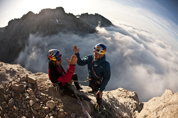 Iker & Eneko Pou on Naranjo de Bulnes, Picos de Europa, Spain, Tim Kemple / Red Bull Photofiles