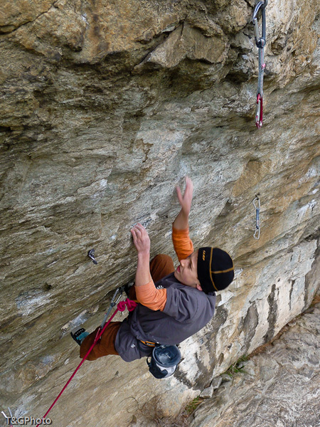 Tito Traversa su Faith 8a, Donnas, Valle d'Aosta, T&G Photo
