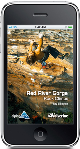 Red River Gorge Rock Climbs climbing iPhone app, Wolverine Publshing