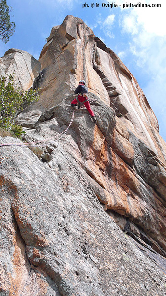 De rerum natura, new route by Oviglia and Larcher in the Bavella, Corsica, Larcher/Oviglia