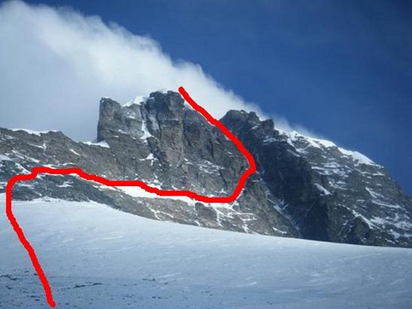 La nuova variante sul Lhotse di Denis Urubko, arch Denis Urubko