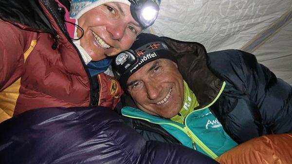 Gerlinde Kaltenbrunner e Ralf Dujmovits, arch Kaltenbrunner