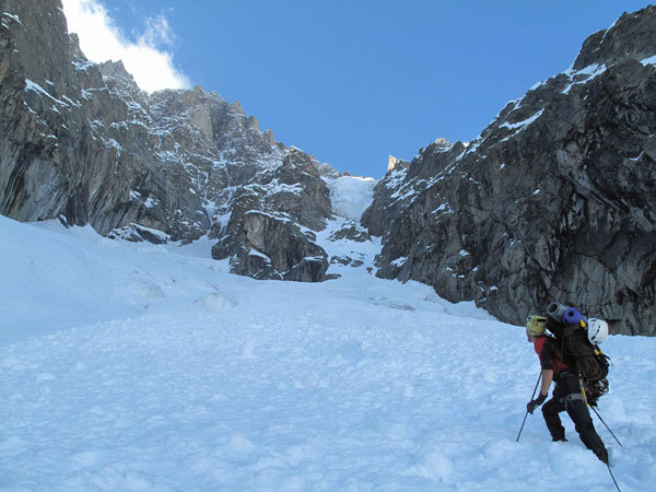 Walking in to the South Face of the Grandes Jorasses, Marcello Sanguineti