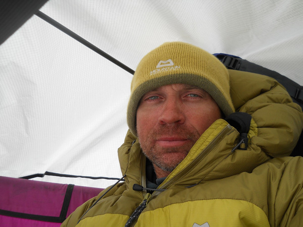 Mike 'Twid' Turner enjoying the deep freeze on Arctic Monkeys, Baffin Big Walls 2010