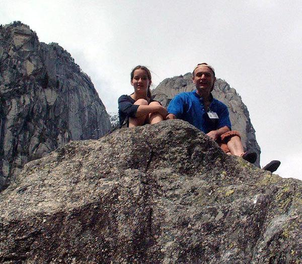 Chan e Nicola Noé en attendant Melloblocco..., arch. Chan