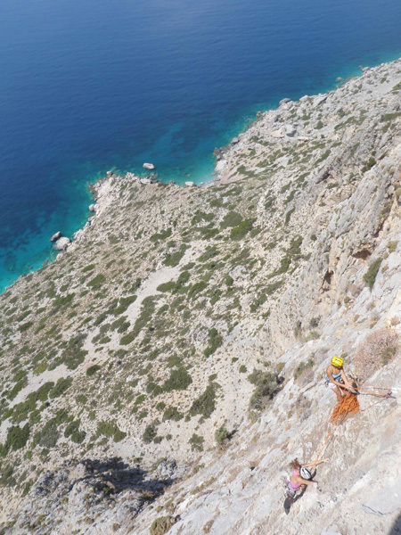 Wild Country (6a, 265m) Telendos, Kalymnos, Greece. First ascent Urs Odermatt & Peter Keller 22/05/2010, arch Odermatt