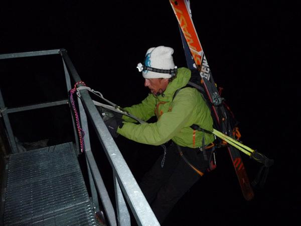 Discsa con gli sci di Luca Rolli e Francesco Civra Dano 04/06/2010., arch Rolli