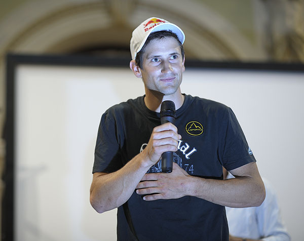 Arco Rock Legends 2009 - Kilian Fischhuber, vincitore della La Sportiva Competition Award, Giulio Malfer