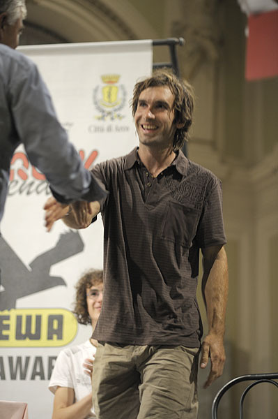 Arco Rock Legends 2009 - Chris Sharma, vincitore del Salewa Rock Award, Giulio Malfer