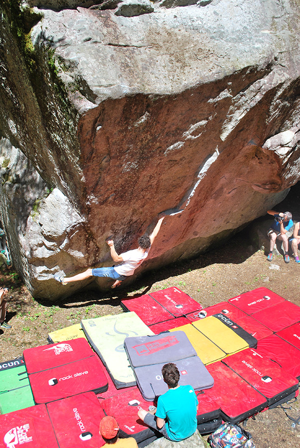 Adam Ondra tenta la Magic Line 18 del GraMitico 2018 in Valle di Daone, PlanetMountain.com