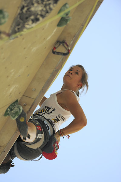 Johanna Ernst - nominated for the La Sportiva Competition Award, during the Arco Rock Master, Giulio Malfer