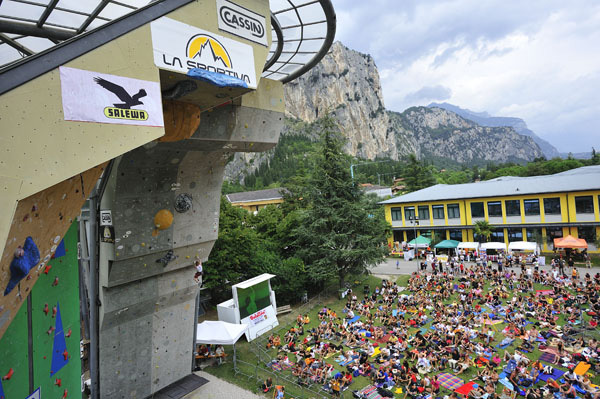 The legendary Climbing Stadium in Arco, Giulio Malfer