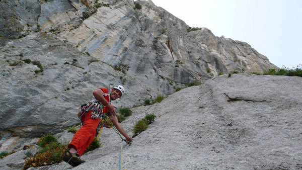 Rolando Larcher on pitch 2 of Camaleontica, arch. R. Larcher - M. Oviglia