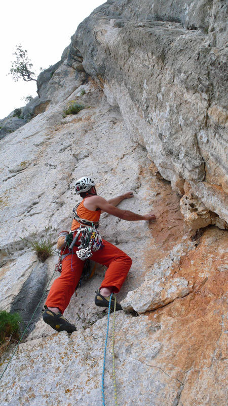 Rolando Larcher on pitch 3 of Camaleontica, arch. R. Larcher - M. Oviglia