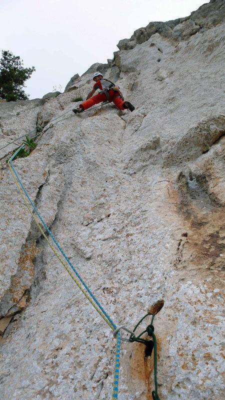 Maurizio Oviglia on pitch 4 of Camaleontica, arch. R. Larcher - M. Oviglia