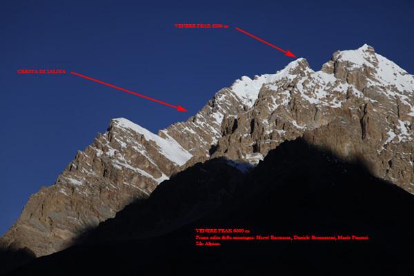 Venere Peak (6300m), first ascended by the Italians Hervé Barmasse, Daniele Bernasconi e Mario Panzeri., Barmasse