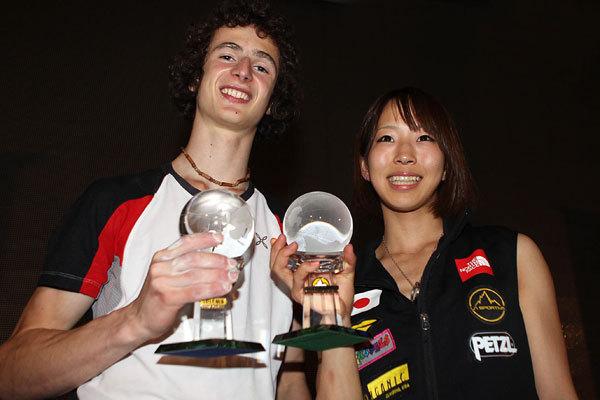 Adam Ondra vincitore del Salewa Rock Award 2010 e Akiyo Noguchi vincitrice del La Sportiva Competition Award 2010, Newspower