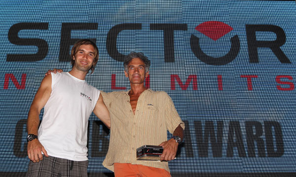 Chris Sharma and Manolo, who received the first Sector Climbing Award, Newspower