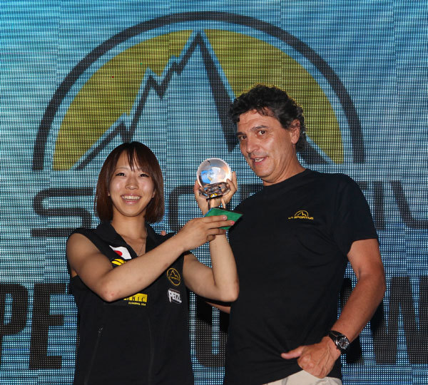 Akiyo Noguchi and the President of La Sportiva Lorenzo Delladio, Newspower