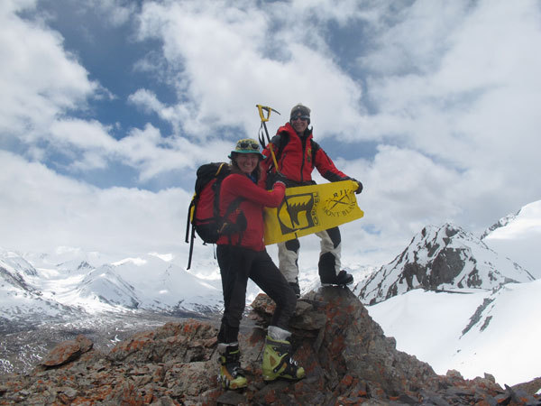 Suzy ed Anna sul Grivel Peak, 4.670m, arch. A. Torretta