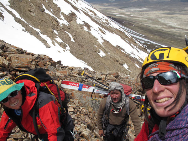 Salendo sul Donne Peak 4.800m, Suzy Medge, Afyat,  Anna Torretta, arch. A. Torretta
