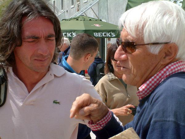 Manrico Dell'Agnola con Walter Bonatti, Planetmountain.com