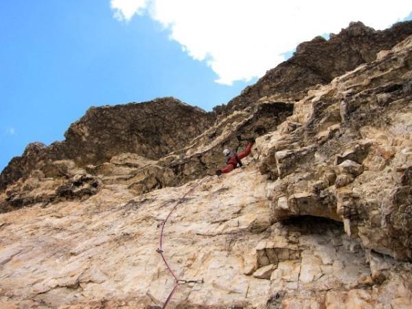 Via Sandro Pertini (250m, 7c) Cima Grande, Tre Cime di Lavaredo, Dolomites, Andrej Grmovšek