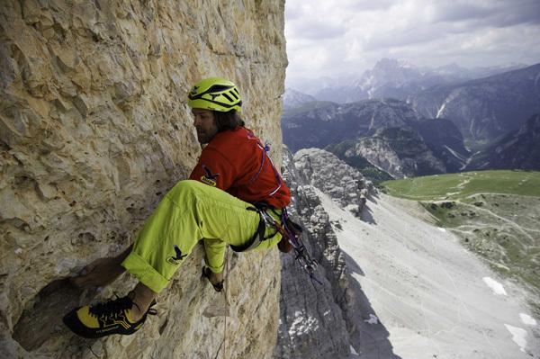 Christoph Hainz su Pressknödl, Cima Ovest di Lavaredo, Dolomiti, arch Hainz