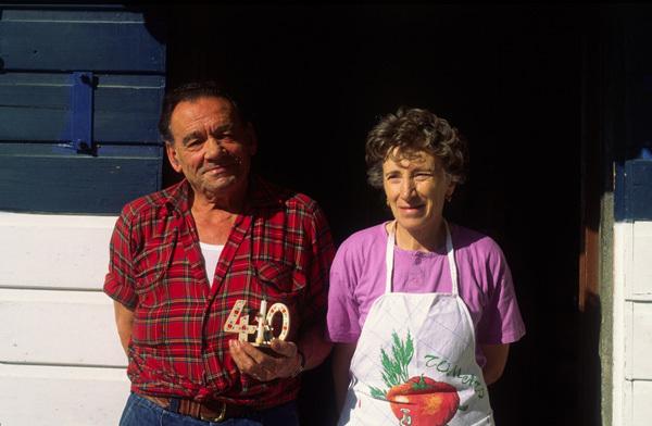 Nino and Agnese del Bon, arch Igor Koller