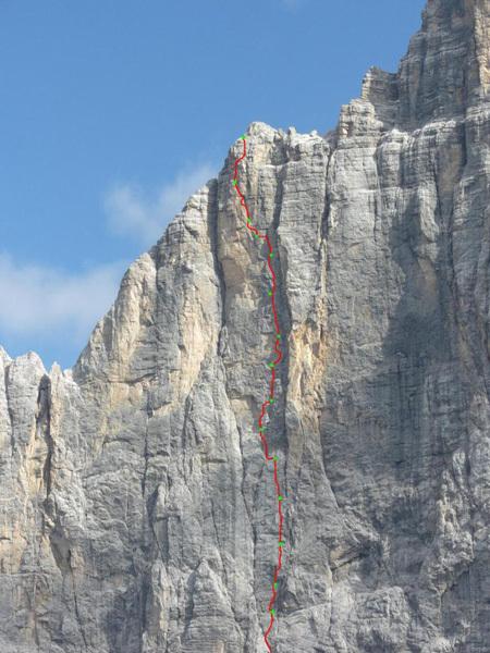 Chimera Verticale, Civetta, Dolomites., arch Alessandro Baù