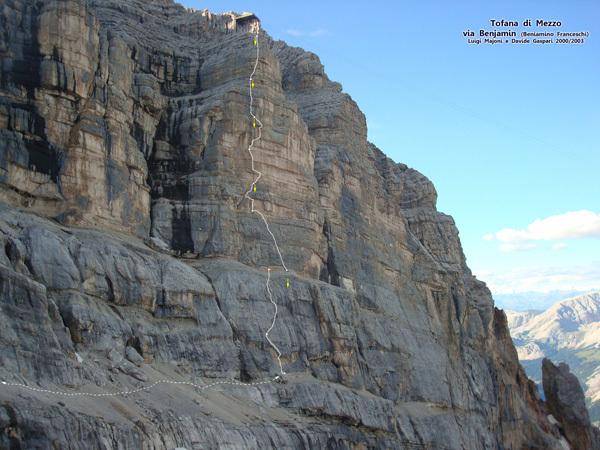 Via Benjamin, Pilastro della Tofana di Mezzo, Dolomites, arch Ruggero Zardini