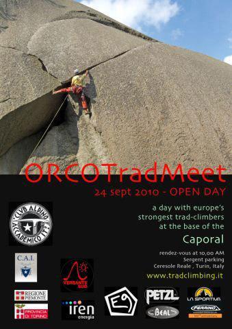 Il 24 Settembre 2010 sui massi del Caporal (Valle dell'Orco, Piemonte, To) tutti possono partecipare all'Open Day del Primo Meeting Internazionale di arrampicata