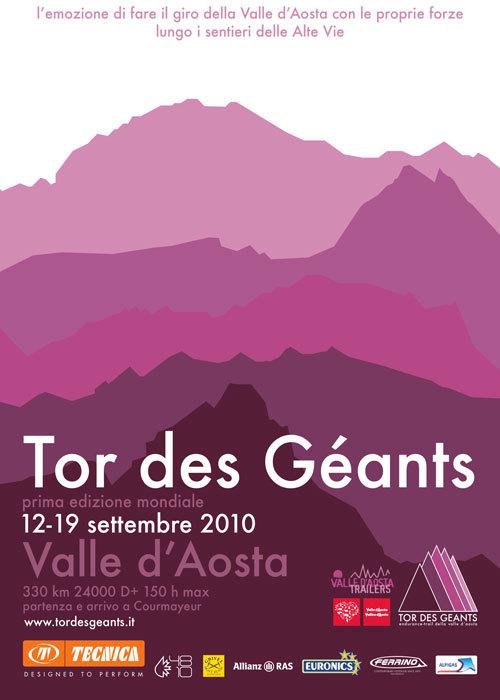 Il 12 Settembre 2010 parte da Courmayeur la prima edizione dell'ultra-maratona Tor des Geants 330 chilometri che abbracciano tutta la Valle d'Aosta e i sui Giganti: il Gran Paradiso, il Monte Rosa, il Cervino e il Monte Bianco., Planetmountain.com