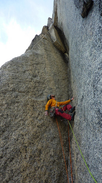 Olivier Favresse in action on the Shepton Spire, Favresse archive