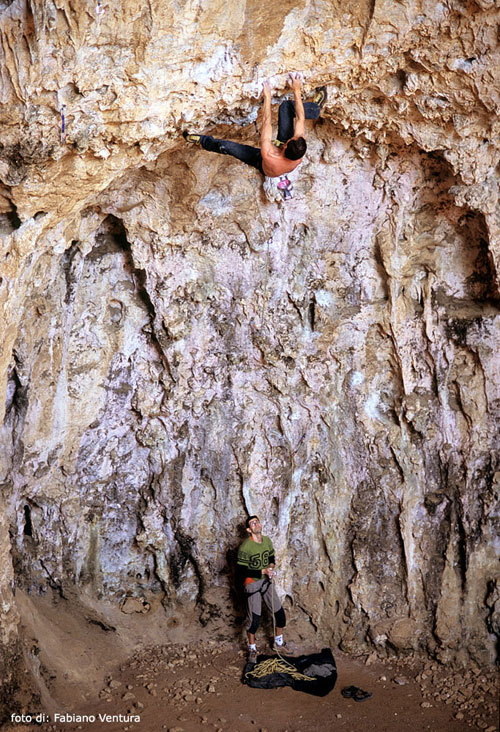 Climbing at the Grotta dell'Arenauta - Gaeta, Fabiano Ventura
