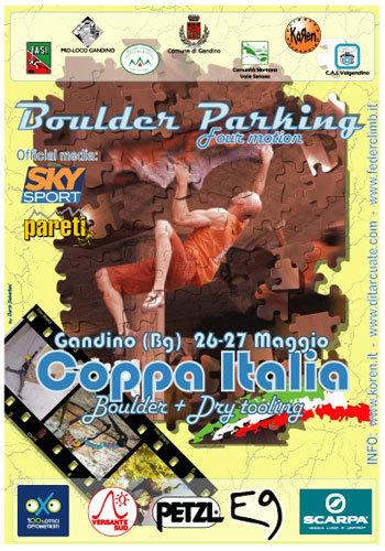 Il 26 e 27 maggio a Gandino (BG) si svolgerà la seconda prova della Coppa Italia di Boulder abbinata alla prima tappa della Coppa Italia di Dry tooling. L'evento è patrocinato dalla Federazione di Arrampicata Sportiva Italiana., arch. Koren