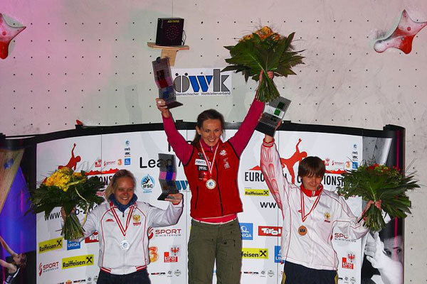 Podio femminile dei Campionati Europei Speed 2010, www.euro-2010.at