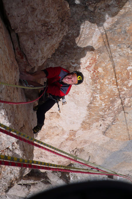 Roberto Pedrotti on pitch 11 of AlexAnna, arch. R. Larcher