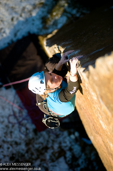 Rock climbing at Millstone, England, Alex Messenger