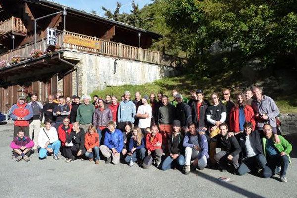 il gruppo del primo International Trad climbing Meeting della Valle dell'Orco, arch. A. Giorda
