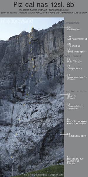 Piz Dal Nas (8b, 500m), Titlis, Switzerland, Klaus Kranebitter