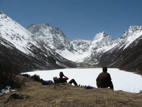 Little Silli Lake, Manam valley and unclimbed 6000m peaks., Mick Fowler